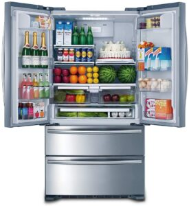 "Smad 36"" French Door Refrigerator 2 Drawer Freezer Stainless Steel with Ice Maker, 20.7 Cu.Ft. sample"