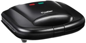 Prestige PGMFB 800 Watt Grill Sandwich Toaster with Fixed Grill Plates, Black sample